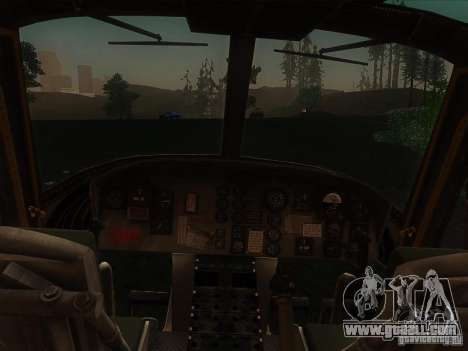 Huey helicopter from call of duty black ops for GTA San Andreas left view