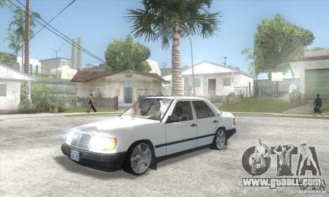 Mercedes-Benz 200D [W124] (1985) for GTA San Andreas inner view