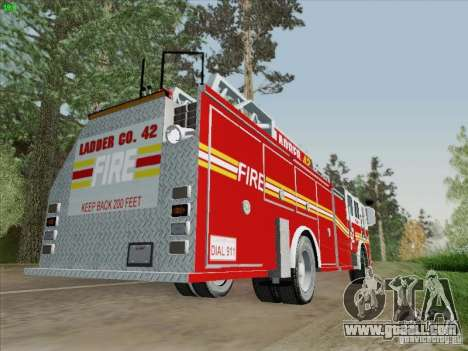 Seagrave Ladder 42 for GTA San Andreas back view