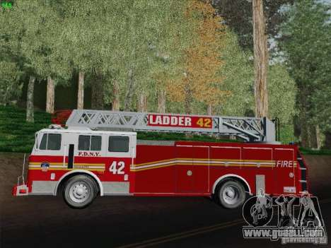 Seagrave Ladder 42 for GTA San Andreas inner view