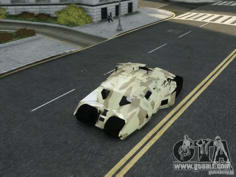 HQ Batman Tumbler for GTA 4 upper view