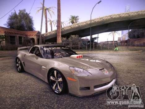 Chevrolet Corvette C6 Z06 Tuning for GTA San Andreas