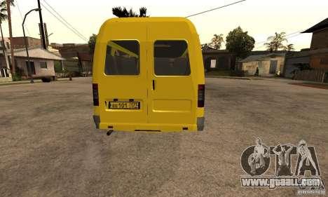 Gazelle 32213 Novosibirsk minibus for GTA San Andreas back view