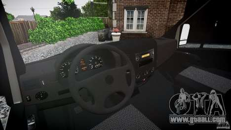 Mercedes Benz Sprinter Long Version for GTA 4 upper view