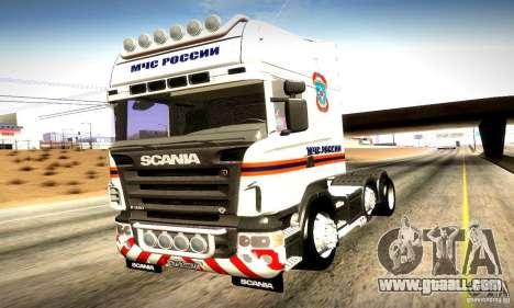 Scania R620 Emercom Of Russia for GTA San Andreas side view