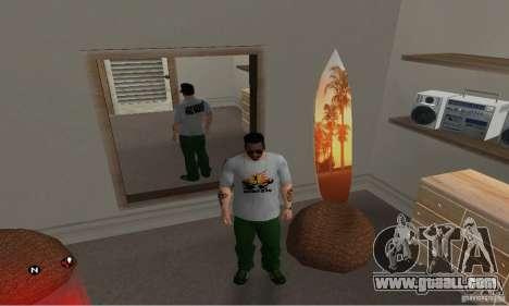 Green day t-shirt for GTA San Andreas second screenshot