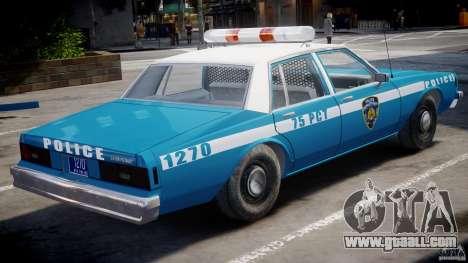 Chevrolet Impala Police 1983 v2.0 for GTA 4 right view