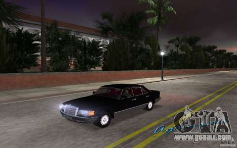 Mercedes-Benz W126 500SE for GTA Vice City right view