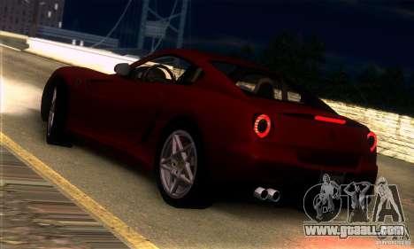 Ferrari 599 GTB Fiorano for GTA San Andreas back view