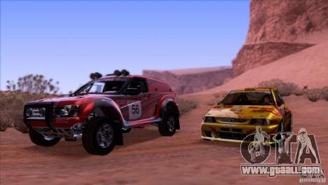 Range Rover Bowler Nemesis for GTA San Andreas inner view