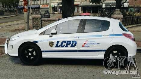 Peugeot 308 GTi 2011 Police v1.1 for GTA 4 left view