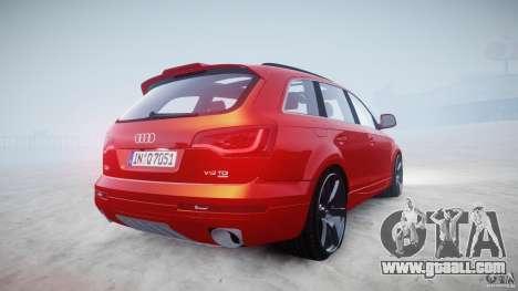 Audi Q7 LED Edit 2009 for GTA 4 inner view