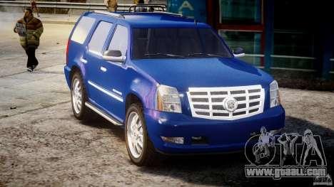 Cadillac Escalade [Beta] for GTA 4 inner view
