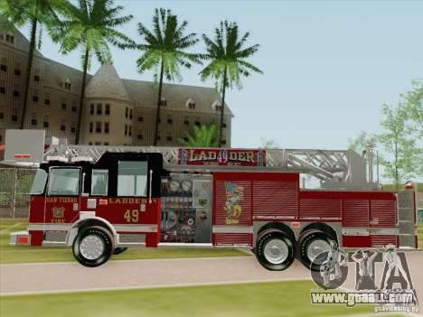 Pierce Rear Mount SFFD Ladder 49 for GTA San Andreas bottom view