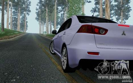 Mitsubishi Lancer Evolution X Tunable for GTA San Andreas right view