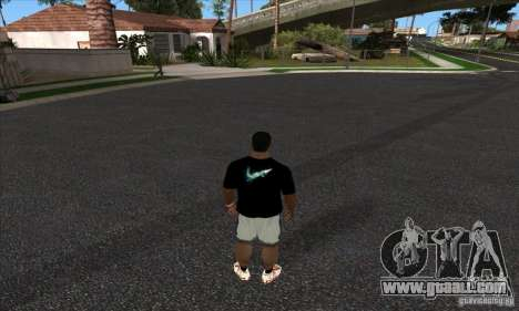 T-shirt By Nike for GTA San Andreas second screenshot