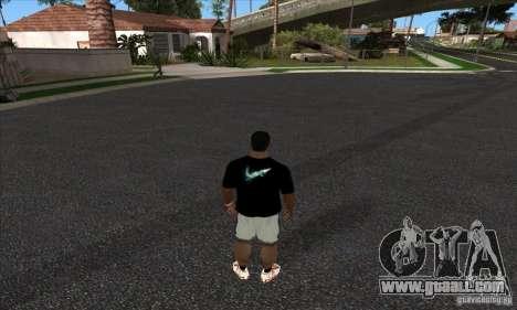 T-shirt By Nike for GTA San Andreas second screenshot