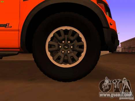 Ford F-150 SVT Raptor 2009 Final for GTA San Andreas back view