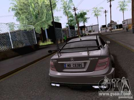 Mercedes-Benz C63 AMG Coupe Black Series for GTA San Andreas left view