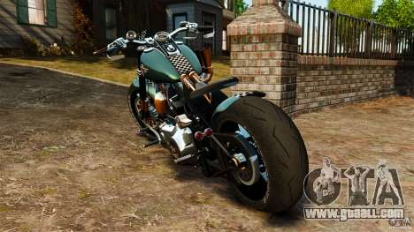 Harley Davidson Fat Boy Lo Racing Bobber for GTA 4 back left view