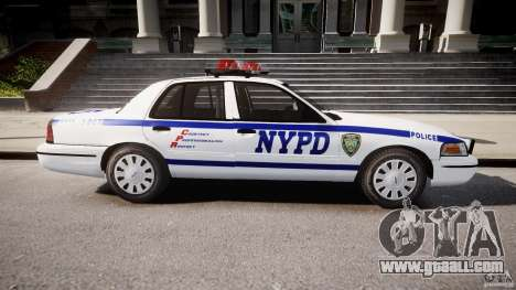 Ford Crown Victoria Police Department 2008 NYPD for GTA 4 left view