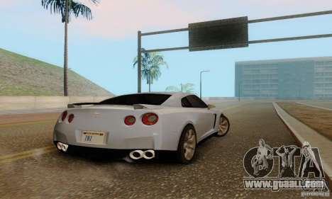 Nissan GT-R for GTA San Andreas back view