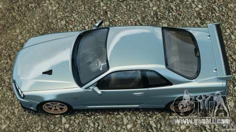 Nissan Skyline GT-R R34 2002 v1.0 for GTA 4 right view
