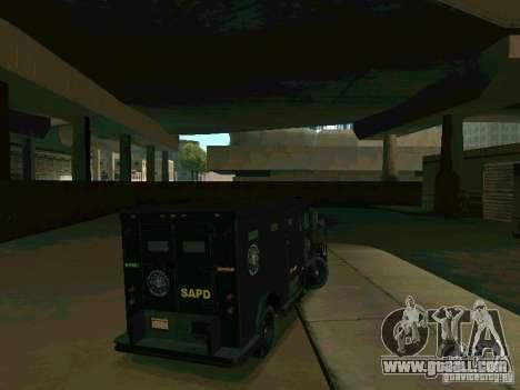 Stokade SAPD SWAT Van for GTA San Andreas right view