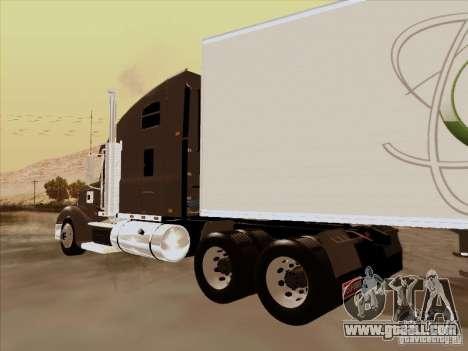 Freightliner Coronado for GTA San Andreas back left view