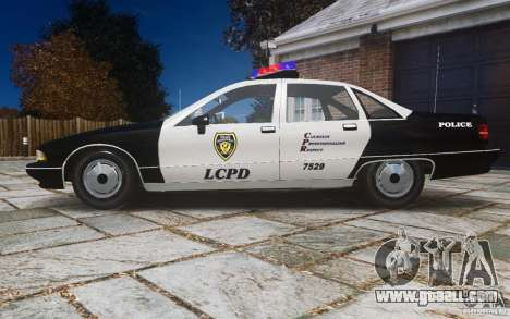Chevrolet Caprice 1991 Police for GTA 4 left view
