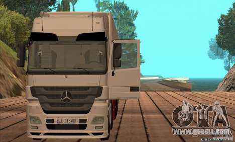 Mercedes-Benz Actros MP3 for GTA San Andreas back left view