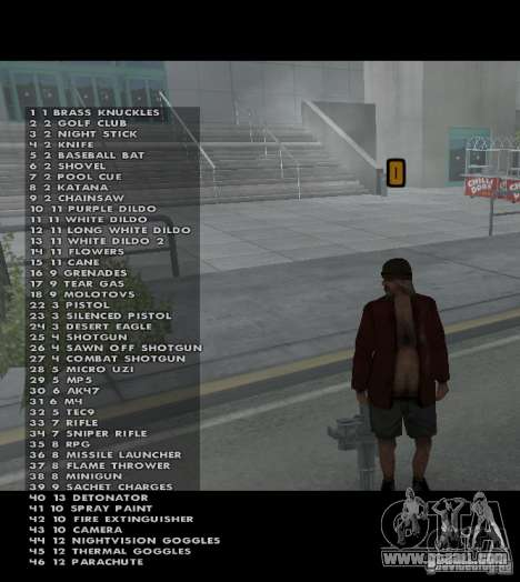 Weapon hacks for GTA San Andreas
