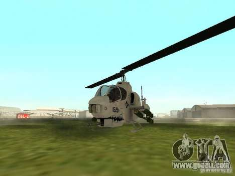 AH-1 Supercobra for GTA San Andreas left view