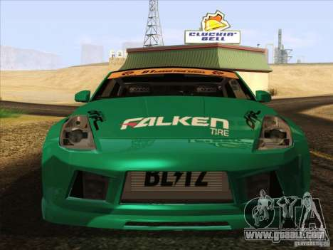 Nissan 350Z Falken Tire for GTA San Andreas back left view