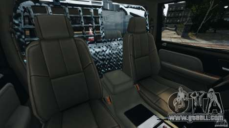 Chevrolet Tahoe LCPD SWAT for GTA 4 inner view