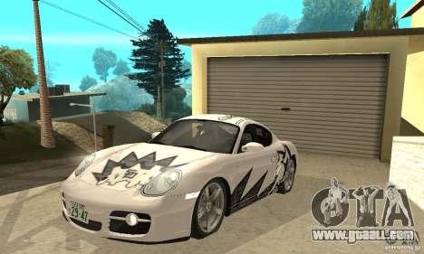Porsche Cayman S for GTA San Andreas interior