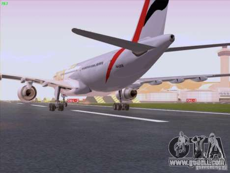 Airbus A330-200 Emirates for GTA San Andreas right view