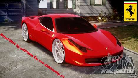Ferrari 458 Italia Dub Edition for GTA 4