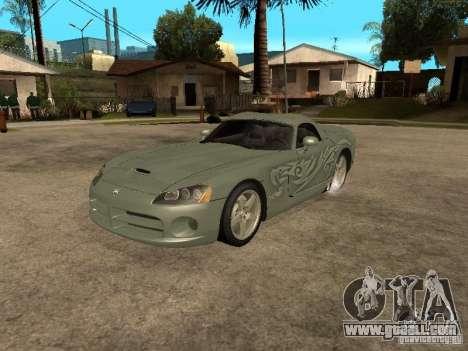 Dodge Viper for GTA San Andreas interior