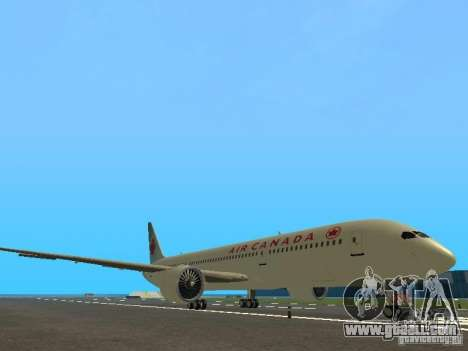 Boeing 787 Dreamliner Air Canada for GTA San Andreas left view