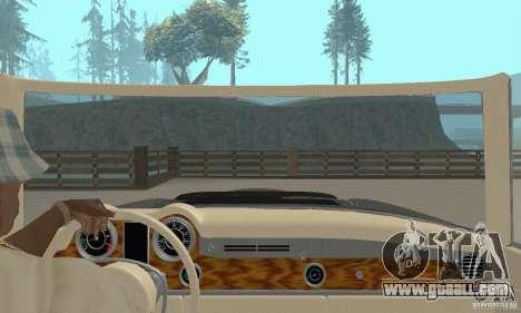 Mercedes-Benz 280SL (Matt) for GTA San Andreas inner view