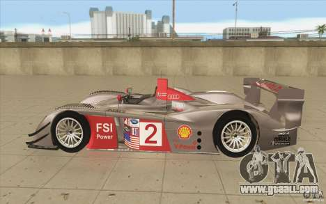 Audi R10 LeMans - Stock for GTA San Andreas left view