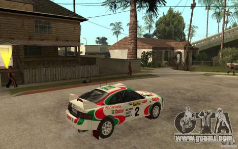 Toyota Celica GT4 DiRT for GTA San Andreas right view