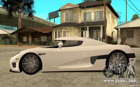 Koenigsegg CCX - Stock for GTA San Andreas left view