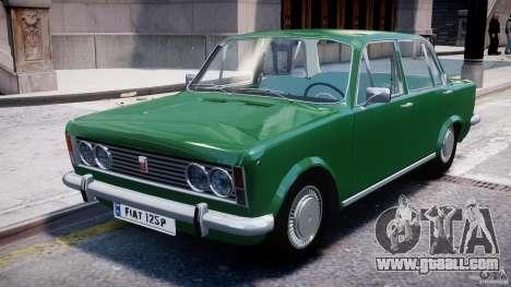 Fiat 125p Polski 1970 for GTA 4 left view