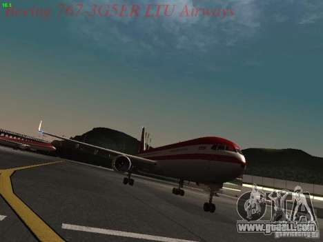 Boeing 767-3G5ER LTU Airways for GTA San Andreas left view