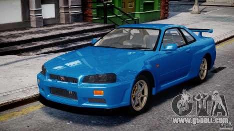 Nissan Skyline R-34 V-spec for GTA 4