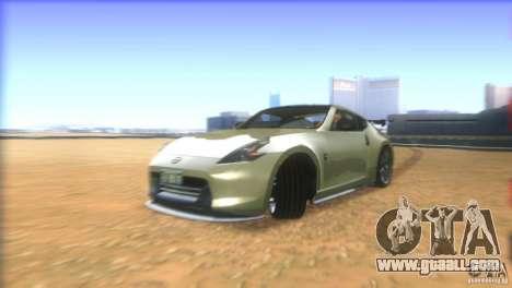 Nissan 370Z Drift 2009 V1.0 for GTA San Andreas upper view