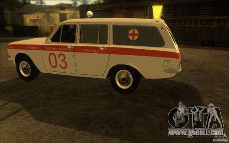 GAZ-24 Volga 03 ambulance for GTA San Andreas back left view