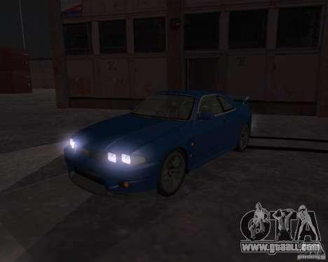 Nissan Skyline GT-R R-33 for GTA San Andreas inner view